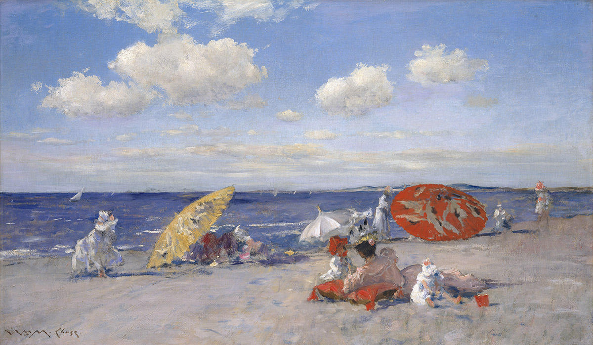 """""""At the Seaside"""" by William Merritt Chase, 1892. Courtesy of the MFA."""
