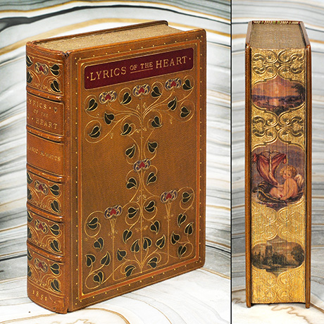 Fazakerley binding of Alaric Watts' Lyrics of the Heart was printed in London in 1851. Photo courtesy of Boston Book Fair.