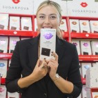 BOSTON, MA - OCTOBER 17:  Maria Sharapova celebrates her chocolate brand Sugarpova In Boston At Star Market on October 17, 2016 in Boston, Massachusetts.  (Photo by Scott Eisen/Getty Images for Sugarpova)