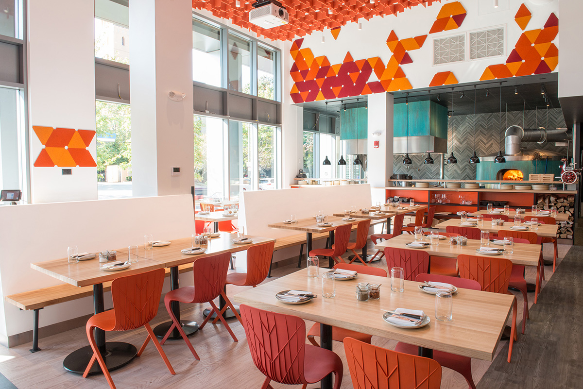 The dining room at Area Four Boston
