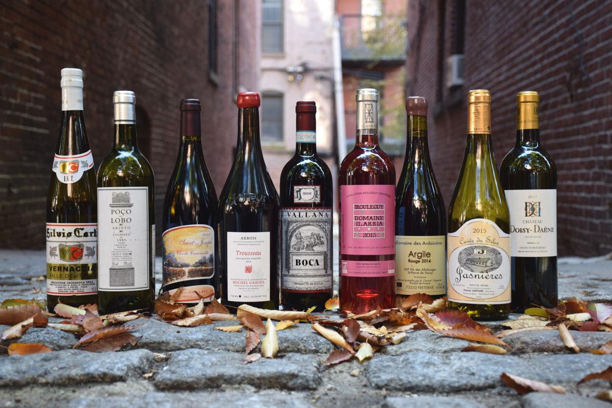 Fall wine selections from Asta, Craigie on Main, Coppa, Little Donkey, and Toro. / Photo by Lloyd Mallison