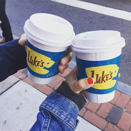 Luke's Diner Cafenation Gilmore Girls square