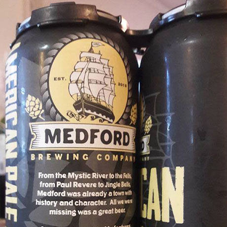 Medford Brewing Company American Pale Ale cans