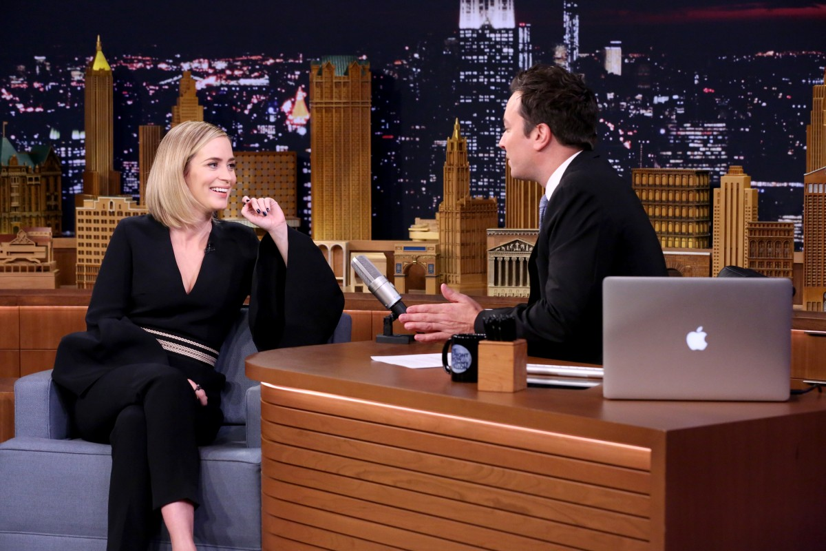 Emily Blunt and Jimmy Fallon