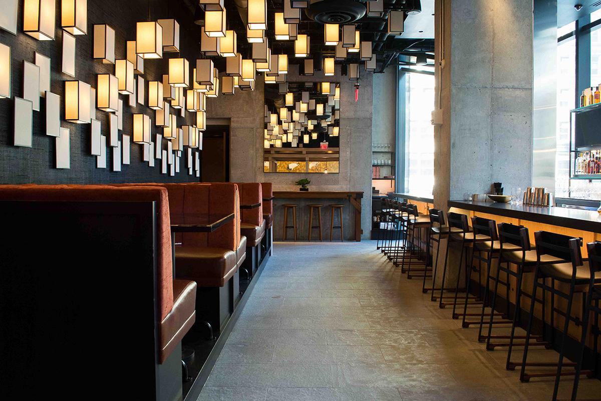 Pabu Boston bar and lounge. / Photos by Jenna Skutnik