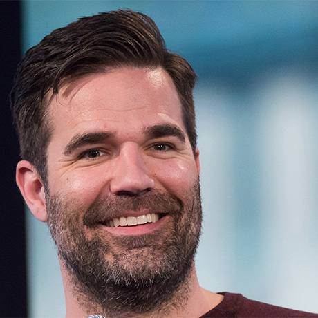 "Rob Delaney participates in AOL's BUILD speaker series to discuss season 2 of their comedy series ""Catastrophe"" at AOL Studios on Wednesday, April 6, 2016, in New York. (Photo by Charles Sykes/Invision/AP)"