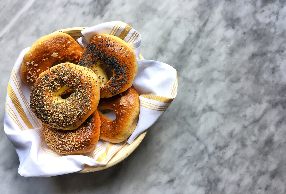 Waypoint pastry chef Kenny Hoshino's, housemade bagels