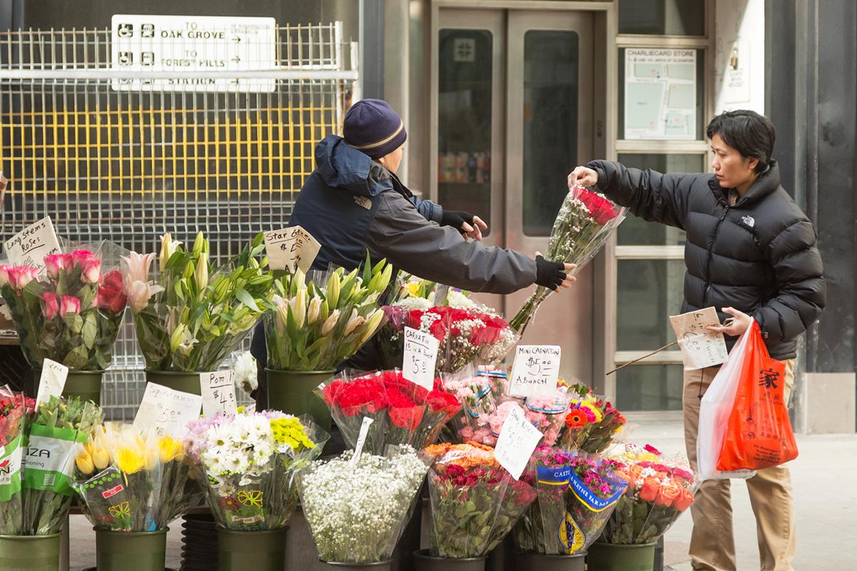 flowers downtown crossing boston