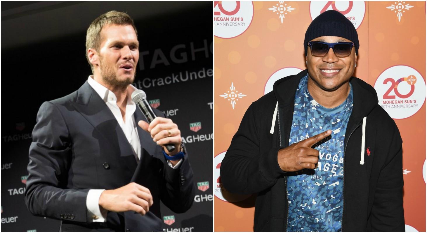 Tom Brady and LL Cool J