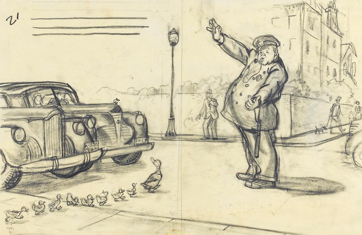 make way for ducklings art robert mccloskey