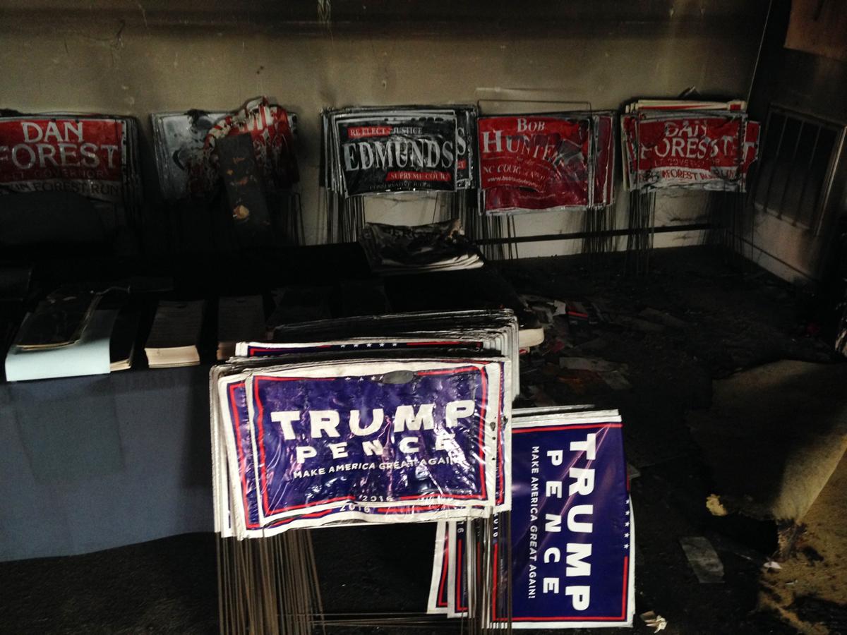 north carolina headquarters firebombed