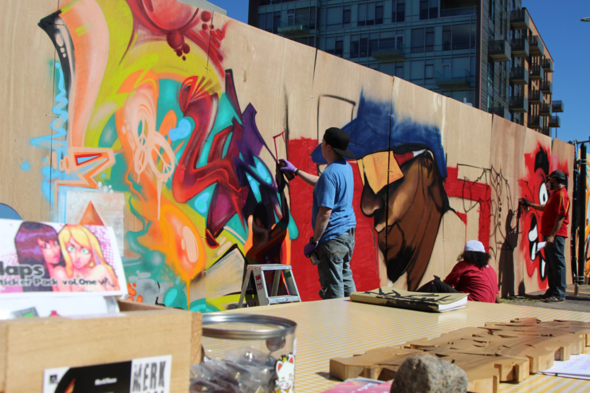 The South End Open Market Is Having a Live Graffiti Party