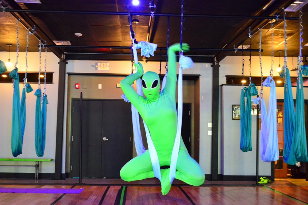 Swet Studio Costumed Aerial Yoga/Photo provided
