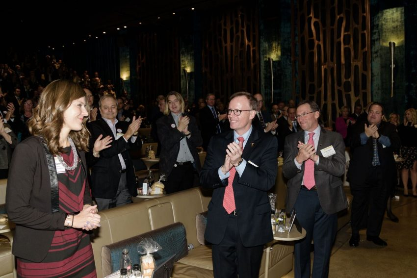 Maggie Nokes, Frank Heavey, Frank Strauss (all from Expect Miracles Foundation). / Photo by Leo Gozbekian and Tanya McGee