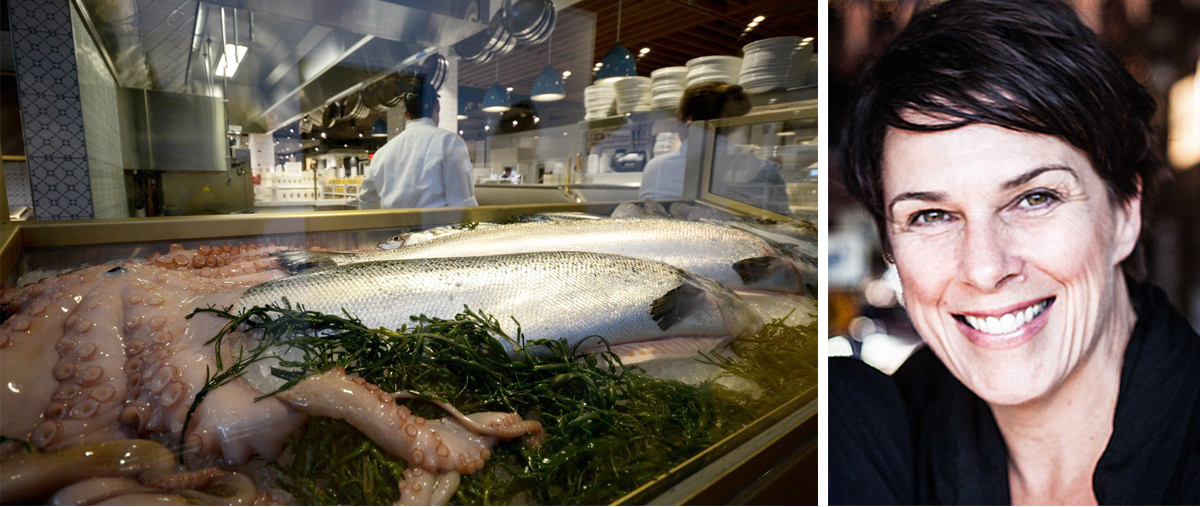 Seafood photo by Lloyd Mallison for'An Early Look Inside Eataly Boston' / Barbara Lynch photo provided