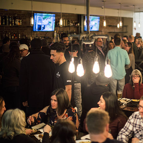 Greasy Luck Brewery during its soft opening before Thanksgiving