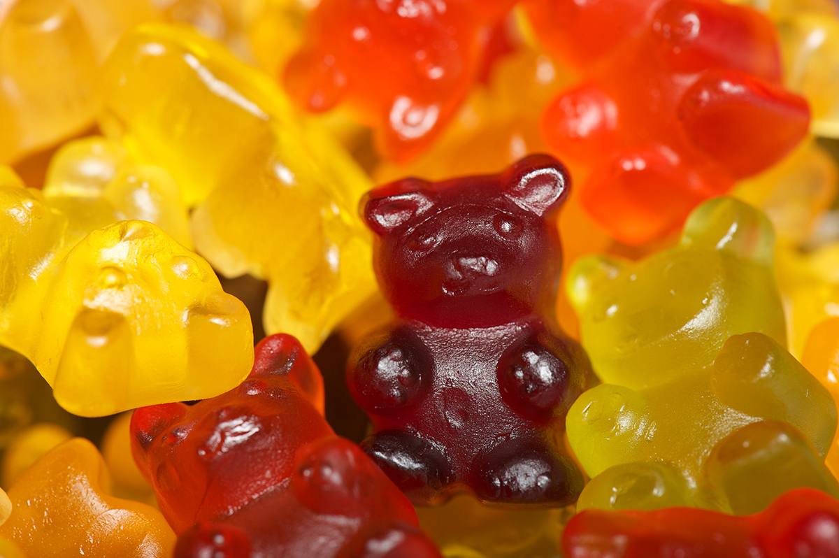 Colorful gummy bears