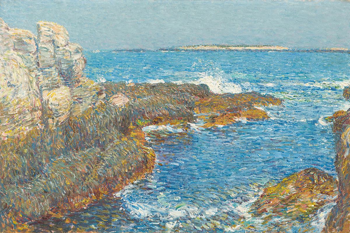 Childe Hassam Isles of Shoals 1907 Oil on canvas 19 1/2 × 29 1/2 in. (49.6 × 75 cm) North Carolina Museum of Art, Raleigh, Promised gift of Ann and Jim Goodnight
