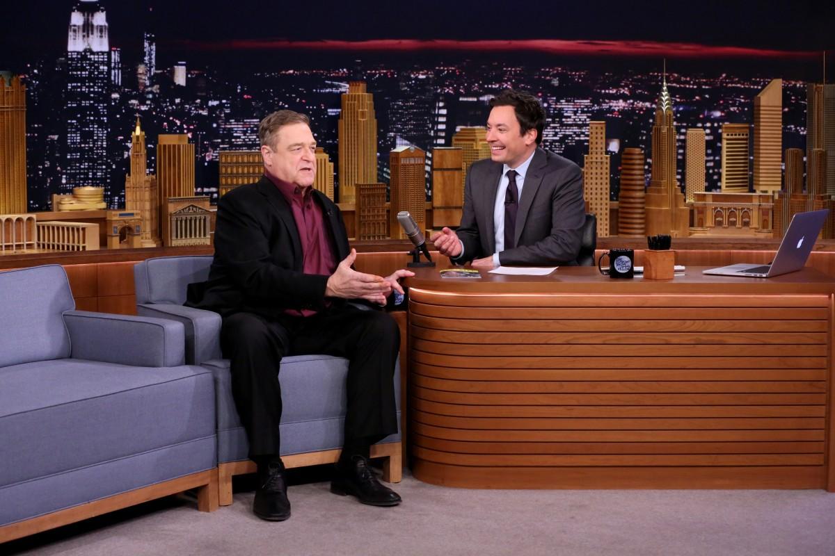 John Goodman and Jimmy Fallon