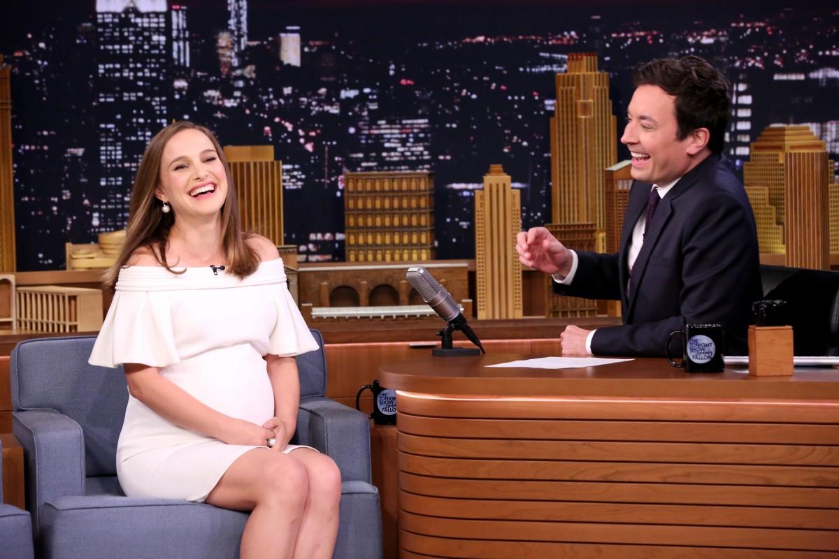 Natalie Portman and Jimmy Fallon