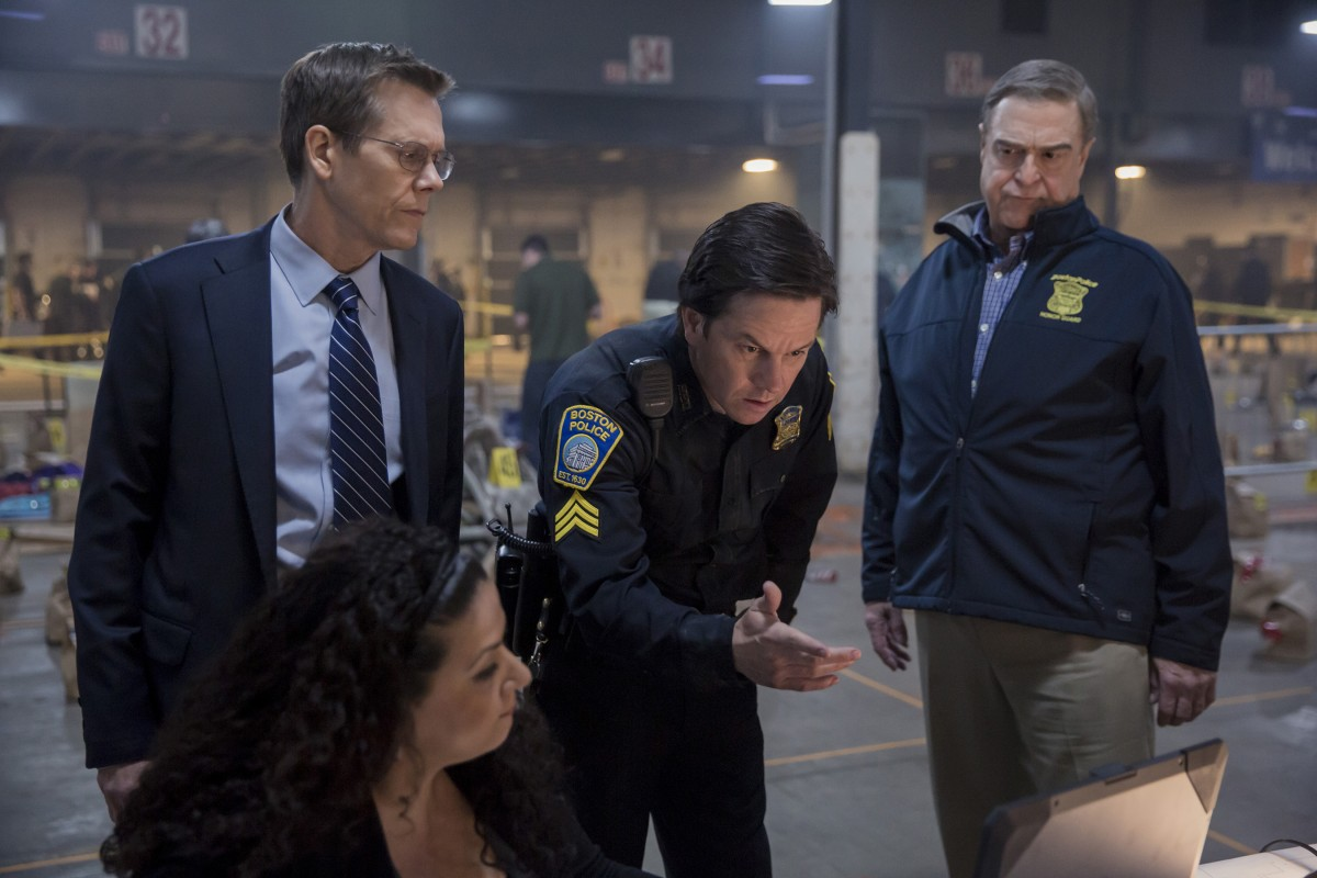 Kevin Bacon, Mark Wahlberg, and John Goodman in 'Patriots Day'