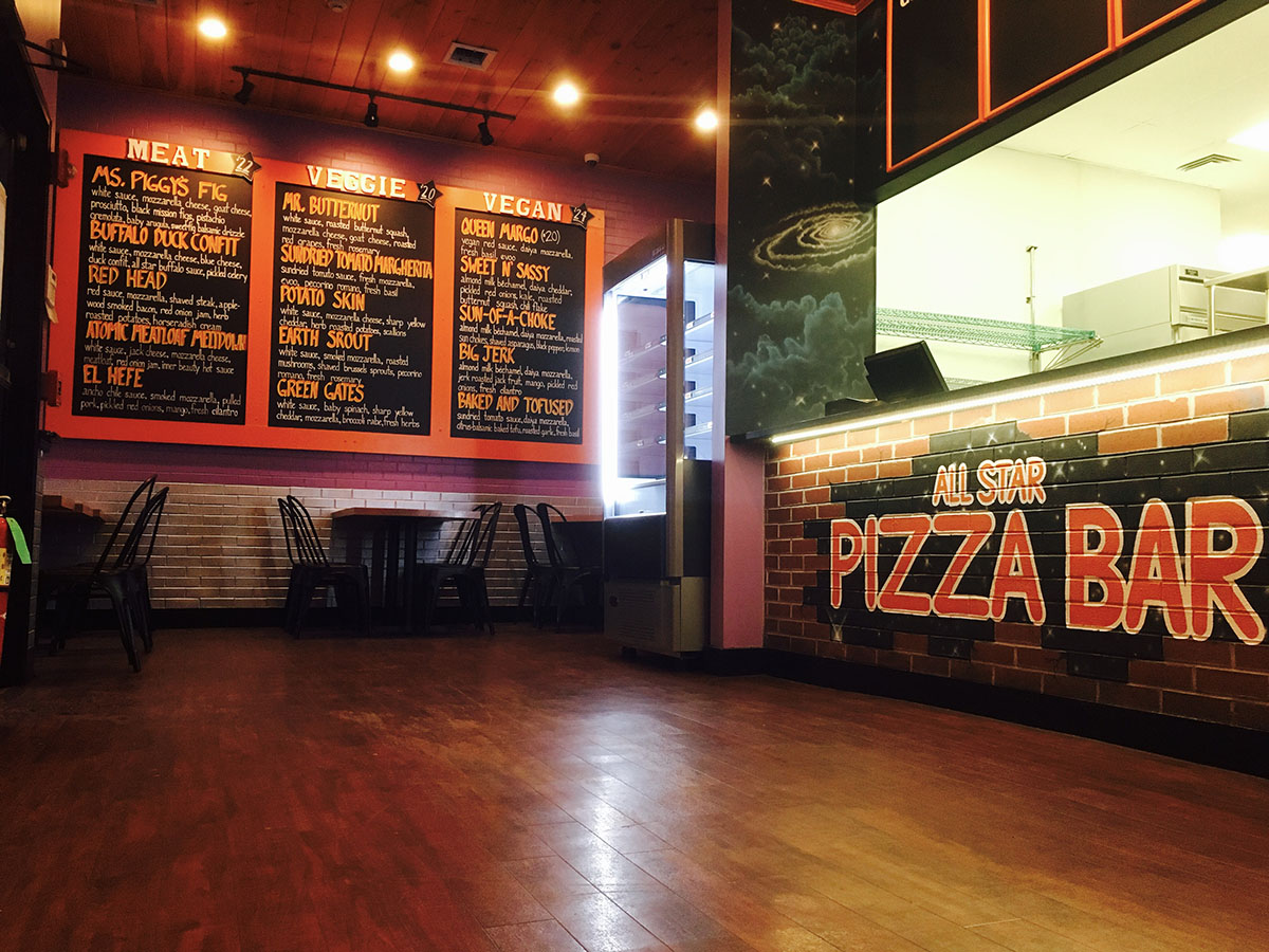 All Star Pizza Bar in Beacon Hil