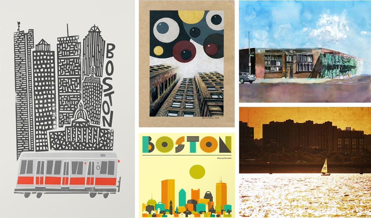 boston-themed art