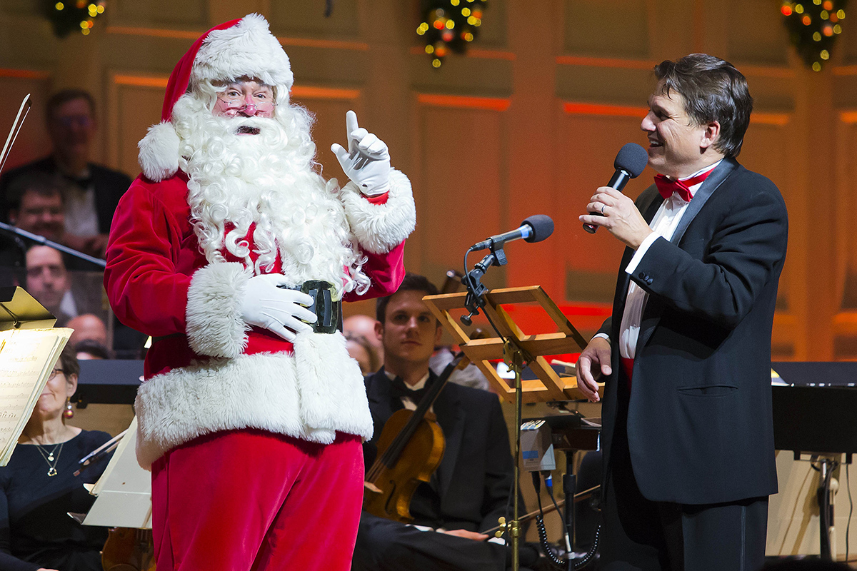 Boston Pops Holiday concert at Symphony Hall in Boston Wednesday, Dec. 2, 2015. Photo by Winslow Townson.
