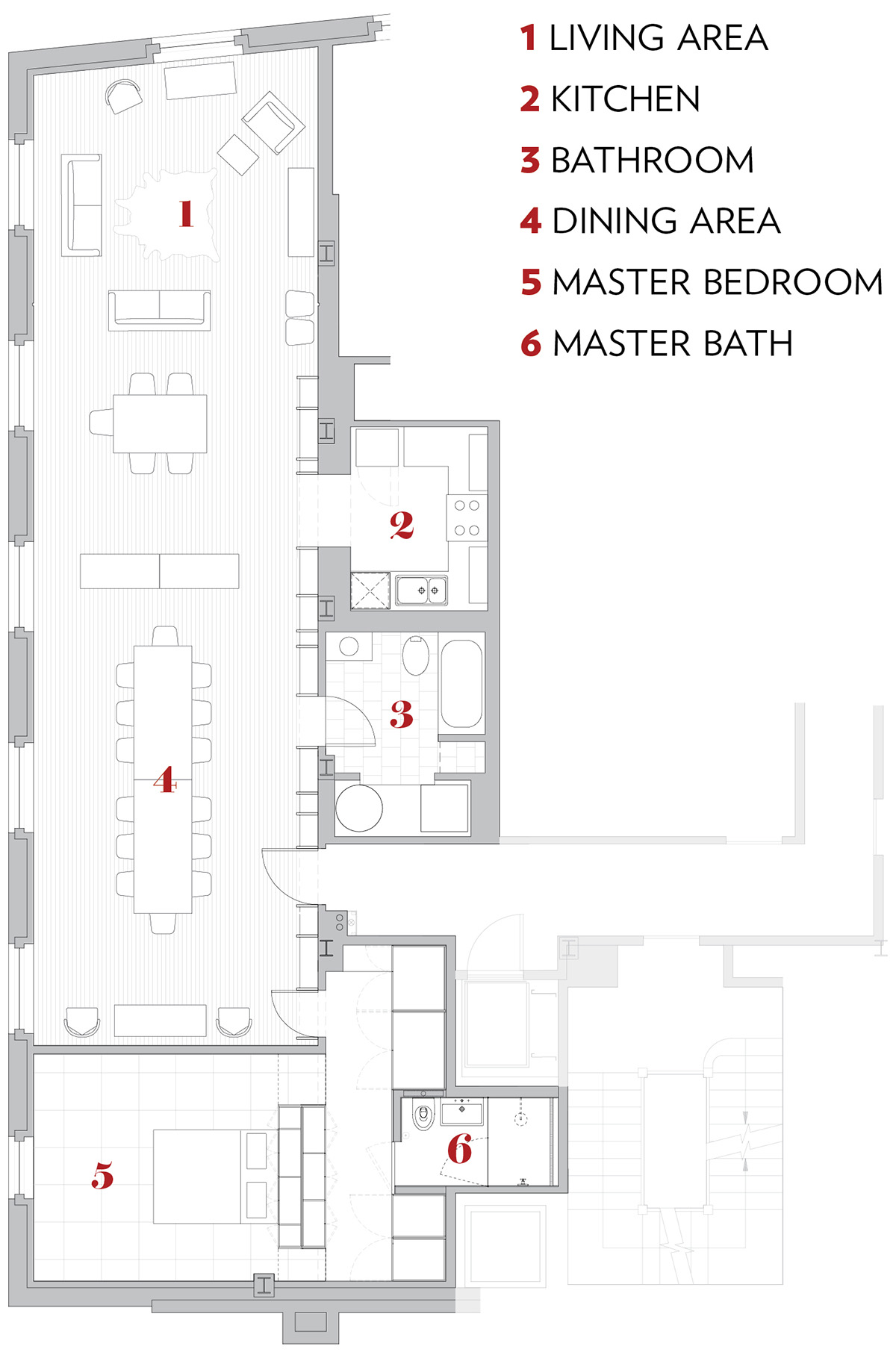 living small longest loft floor plan