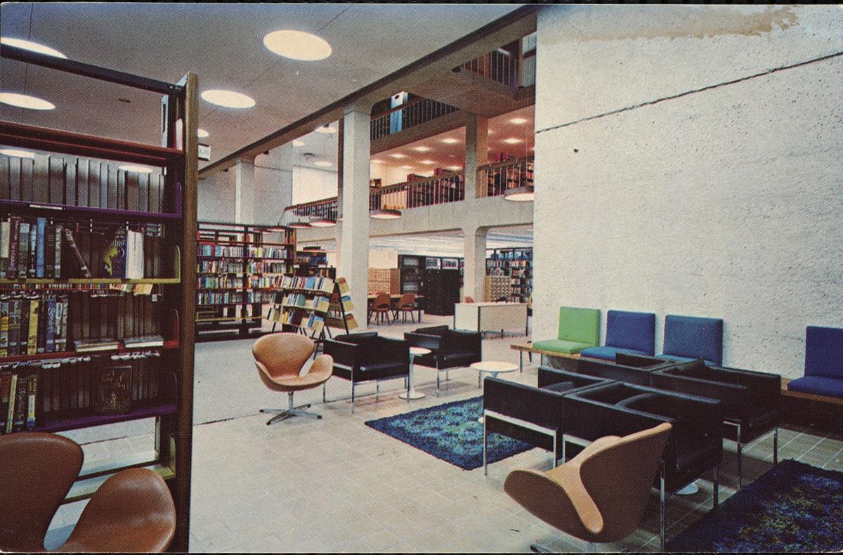 midcentury modern library massachusetts