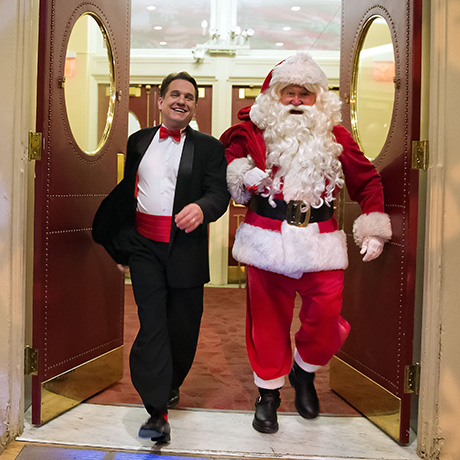 Keith Lockhart and Santa Claus. Photo by Winslow Townson.
