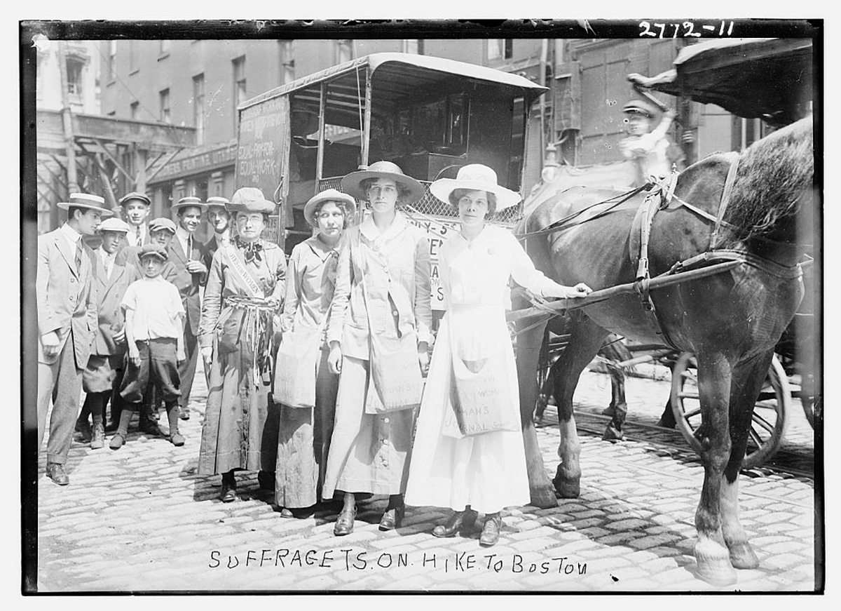 suffragettes en route to boston