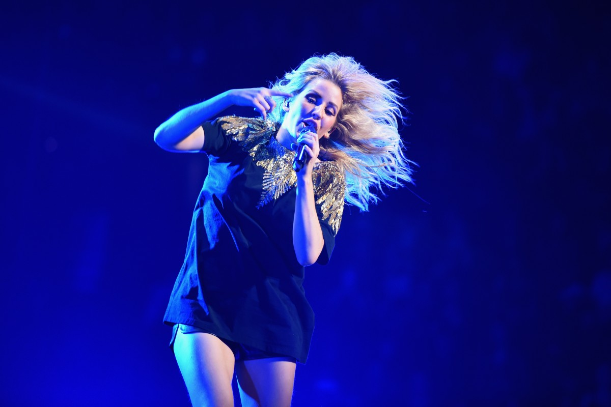 Ellie Goulding at Jingle Ball 2016 in Boston.