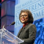BOSTON, MA - DECEMBER 08:  Attorney and professor Anita Hill speaks onstage during the Massachusetts Conference for Women at Boston Convention & Exhibition Center on December 8, 2016 in Boston, Massachusetts.  (Photo by Marla Aufmuth/Getty Images for Massachusetts Conference for Women)