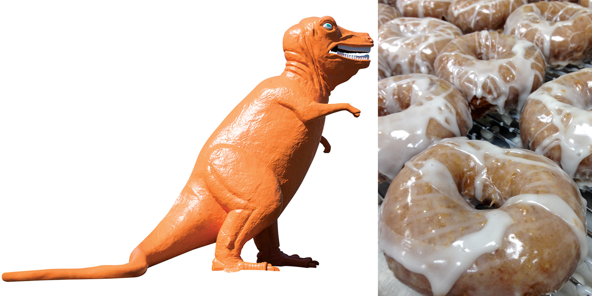 Dinosaur photo by Toan Trinh for '25 Ways You Know You're from the North Shore' / Kane's Donuts photo provided
