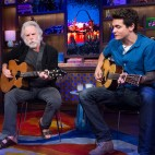 WATCH WHAT HAPPENS LIVE -- Episode 13112 -- Pictured: (l-r) Andy Cohen, Bob Weir, John Mayer -- (Photo by: Charles Sykes/Bravo)