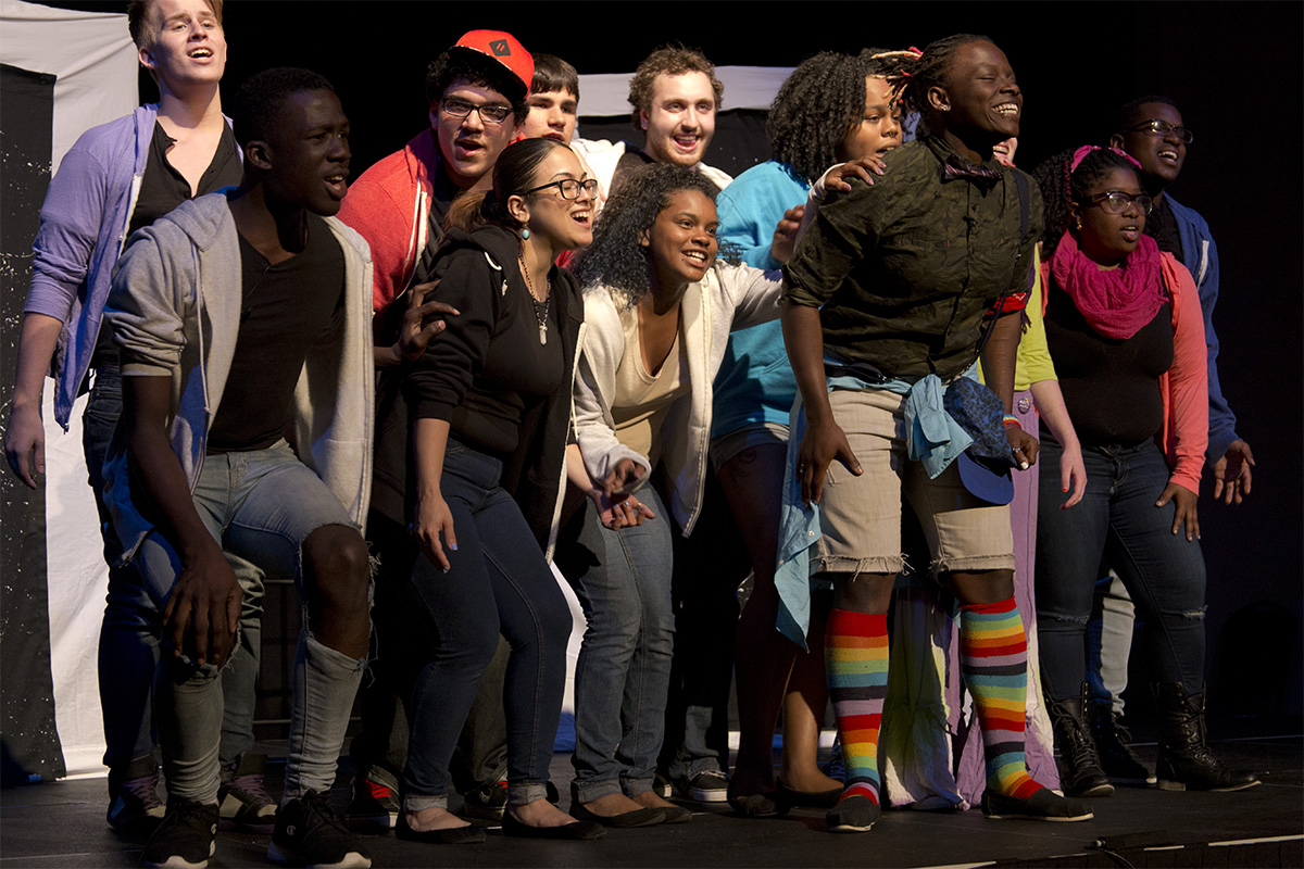 True Colors Troupe, Spring 2015. Photo by Ivy Maiorino