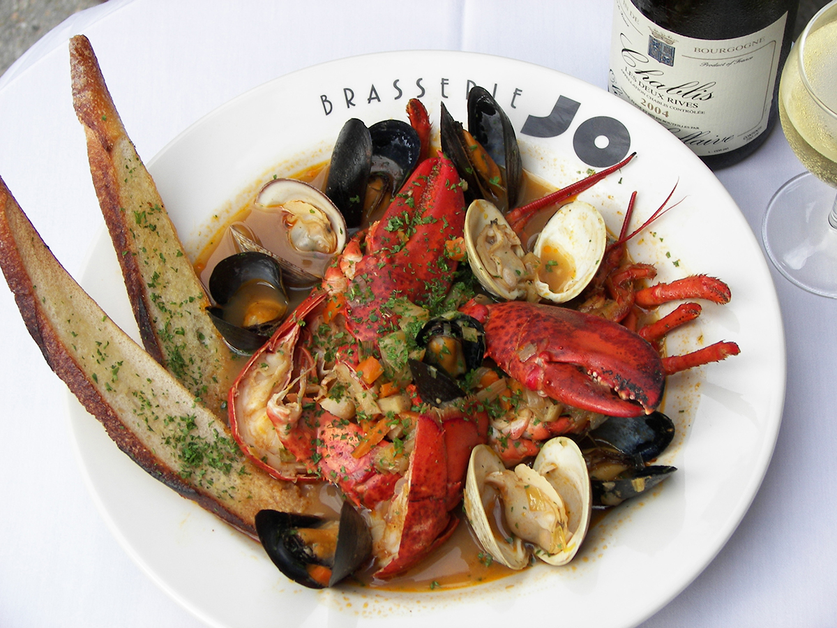 lobster bouillabaisse at brasserie jo photo provided - Restaurants Open For Christmas Dinner