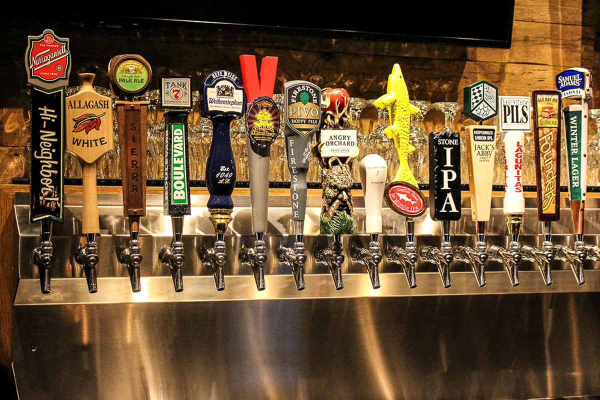 Draft lines at City Tap House. / Photo provided