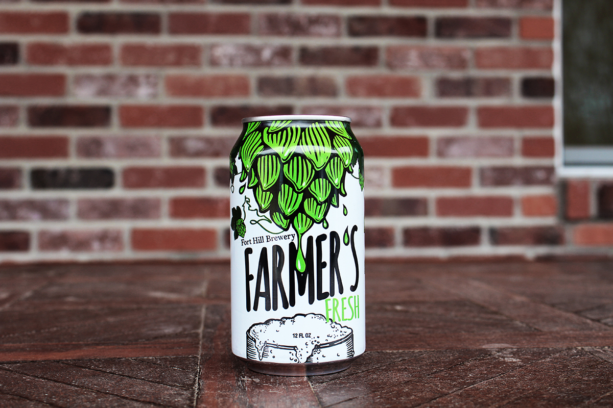 Farmer's Fresh, a session IPA from Fort Hill Brewery