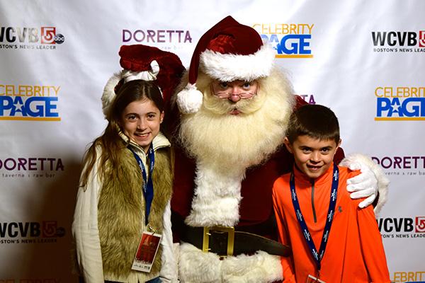 Santa Boston and guests.