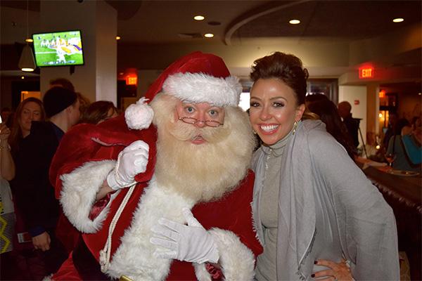Santa Boston and WCVB Channel 5's J.C. Monahan.