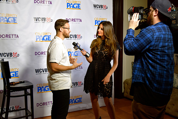 Celebrity Page TV Host Sonia Isabelle and Chef Brendan Pelley.