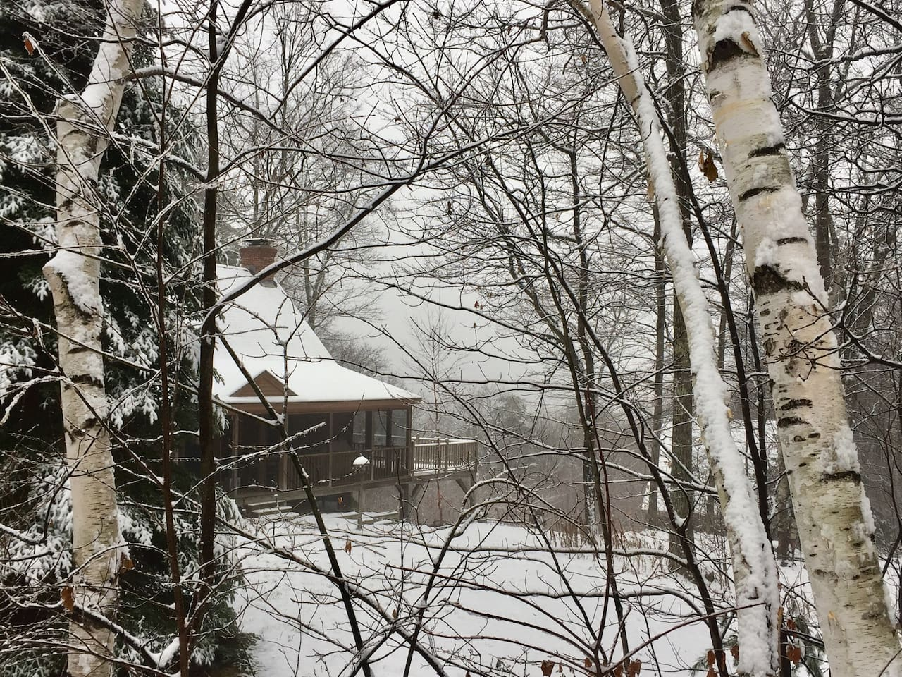 winter cabins new england airbnb