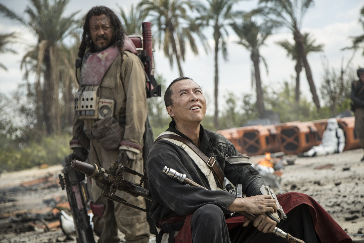 Jiang Wen and Donnie Yen in 'Rogue One: A Star Wars Story.'