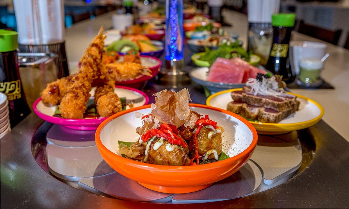 Plates at YO! Sushi