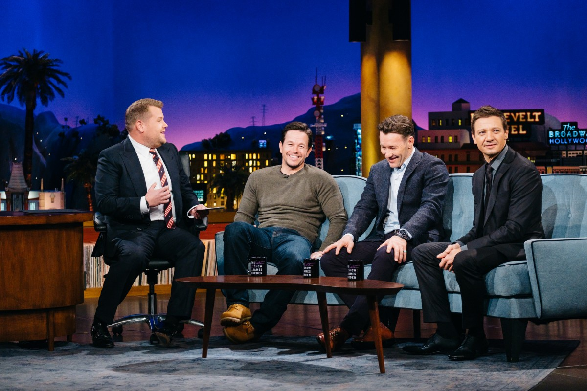 Mark Wahlberg, Joel Edgerton, and Jeremy Renner chat with James Corden.