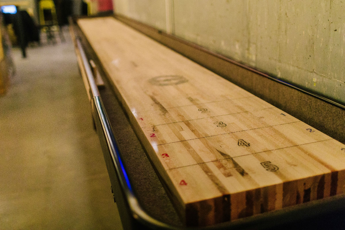 Shuffleboard at A4cade by Area Four