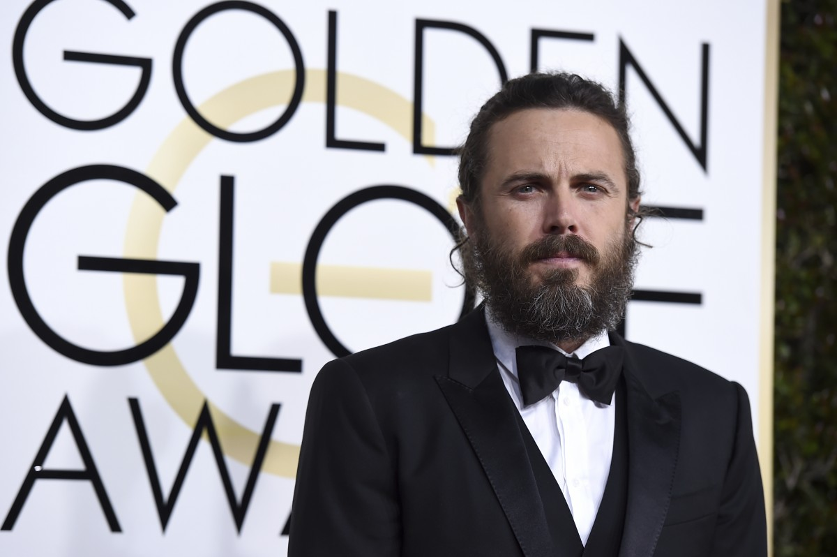 Casey Affleck at the 2017 Golden Globes.