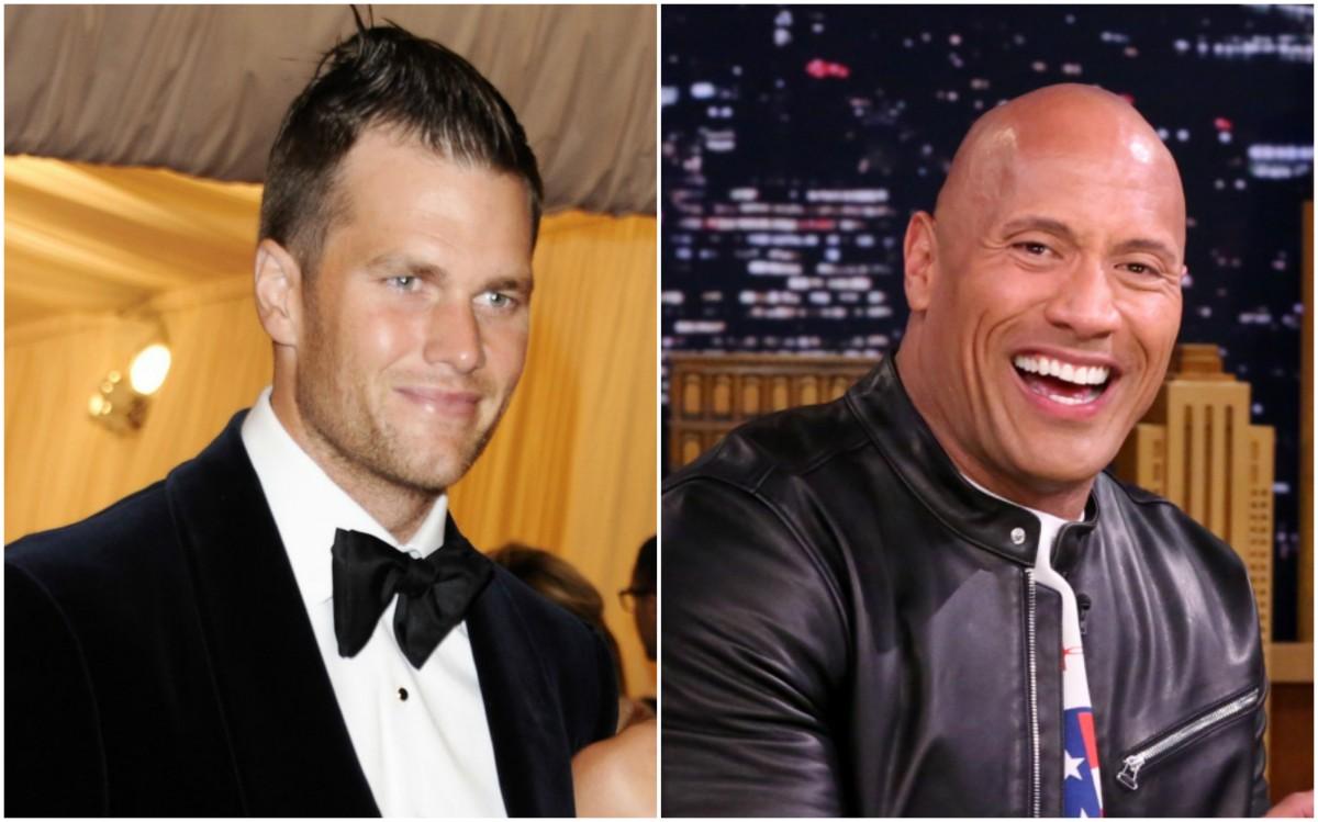 Tom Brady and Dwayne 'The Rock' Johnson